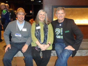 Lummi chairman Tim Ballew, Bellingham mayor, Kelli Linville (Seaahawk Night, Super Bowl eve)